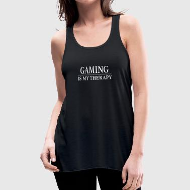 Gaming Gaming Is My Therapy - Women's Flowy Tank Top by Bella