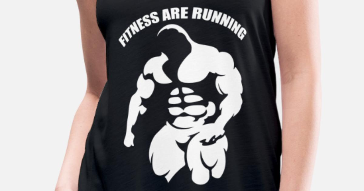 8879b5fc96c0e Bodybuilder Gym Fitness T shirt Design for Fitness Women s Flowy Tank Top