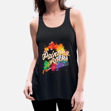 Rock Artist Colorful gift for artists painting rocks - Women's Flowy Tank Top