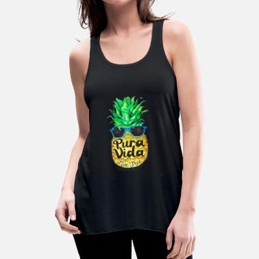 Summer Pineapple In Sunglasses Costa Rica Summer Pure Lif - Women's Flowy Tank Top by Bella