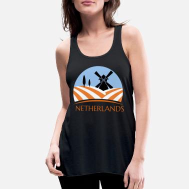 Holland Holland Netherlands Amsterdam gift holiday - Women's Flowy Tank Top