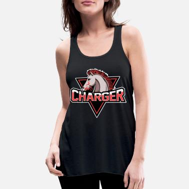Charger Animals Horse Courser Cool Gift - Women's Flowy Tank Top