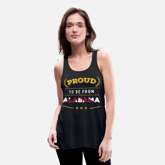 Alabama Tank Tops - Proud To Be From Alabama Pride - Women's Flowy Tank Top black