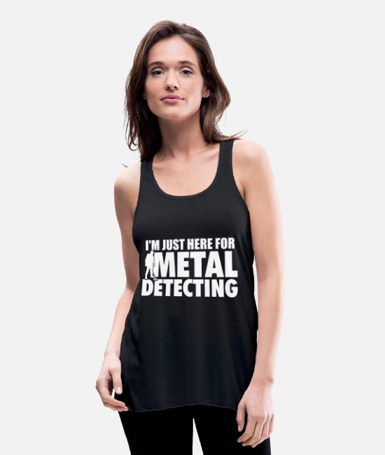 Treasure Hunt Tank Tops - Metal Detectors | Treasure Hunter Gondolas Gifts - Women's Flowy Tank Top black
