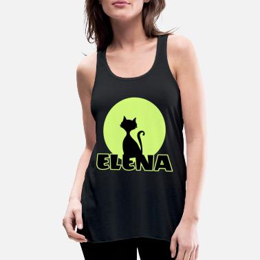 Name Day Elena Name day first name personal gift moonlight - Women's Flowy Tank Top