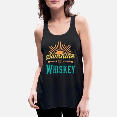 Whiskey Sunshine And Whiskey - Women's Flowy Tank Top