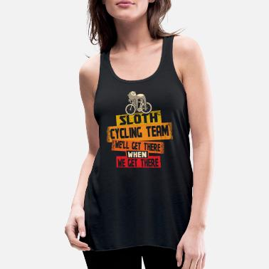 Cycling Sloth Cycling Team We'll Get There When We Get There - Women's Flowy Tank Top