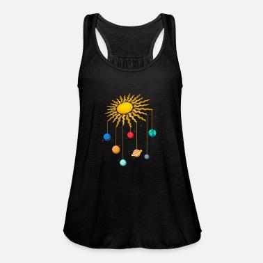 Cute Otter Bathing in Space Women/'s Tank Top Funny Universe Galaxy Earth Top