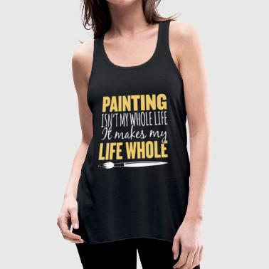 Whole Life Painting T Shirt - Women's Flowy Tank Top by Bella