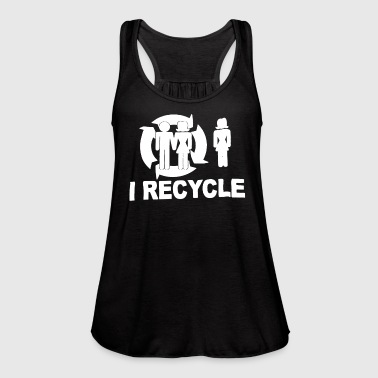 I Recycle - Women's Flowy Tank Top by Bella