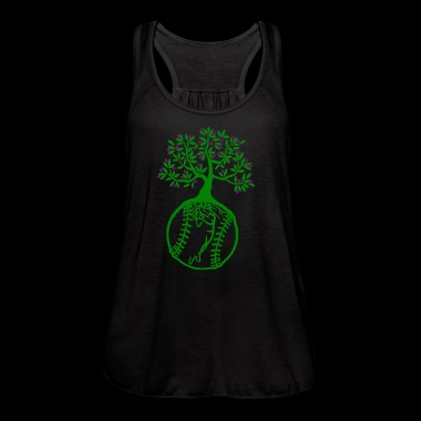 Softball earth day shirts - Women's Flowy Tank Top by Bella