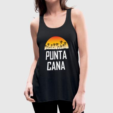 Punta Cana Sunset And Palm Trees Beach - Women's Flowy Tank Top by Bella