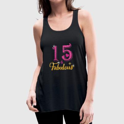 15 Fabulous Queen Shirt 15th Birthday Gifts - Women's Flowy Tank Top by Bella