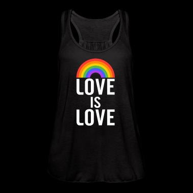 Love is Love Rainbow - Women's Flowy Tank Top by Bella
