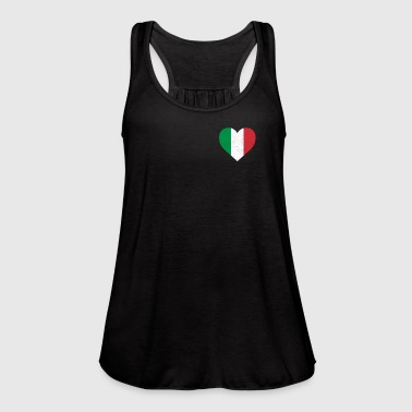 Italy Flag Shirt Heart - Italian Shirt - Women's Flowy Tank Top by Bella