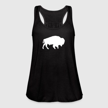 Bison - Women's Flowy Tank Top by Bella
