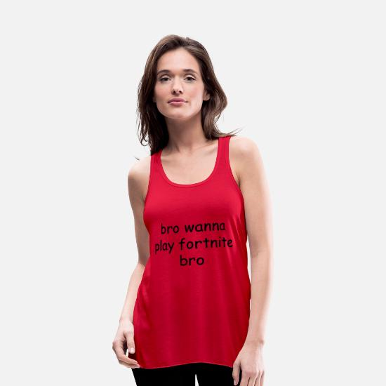 Play Tank Tops - Text Foenite - Women's Flowy Tank Top red