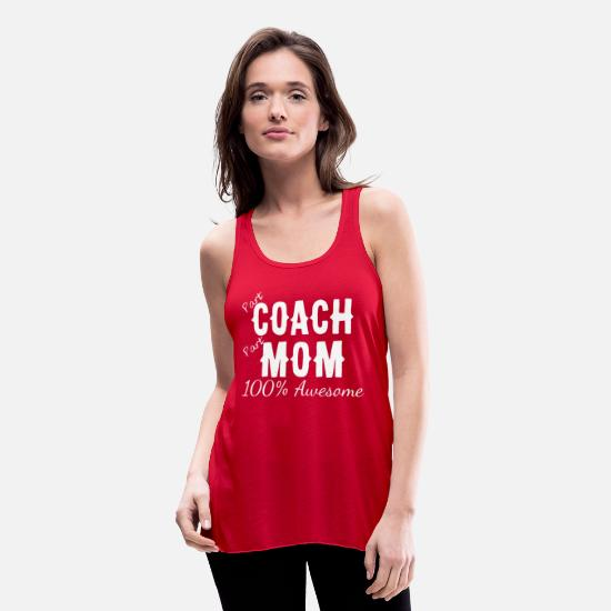 Ski Freak Tank Tops - Part Coach Part Mom 100 Awesome - Women's Flowy Tank Top red