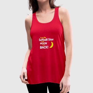 I Love My Softball Star To The Moon And Back Shirt - Women's Flowy Tank Top by Bella