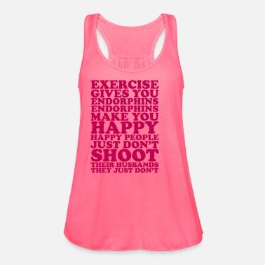 07476b2fbfc6f7 Happy Exercising Women s Flowy Tank Top