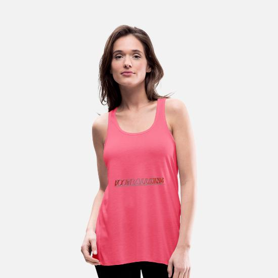 Best Tank Tops - Footballking - Women's Flowy Tank Top neon pink