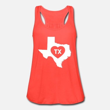 Texas I Love Texas State - Women's Flowy Tank Top by Bella
