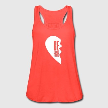best friends left side - Women's Flowy Tank Top by Bella