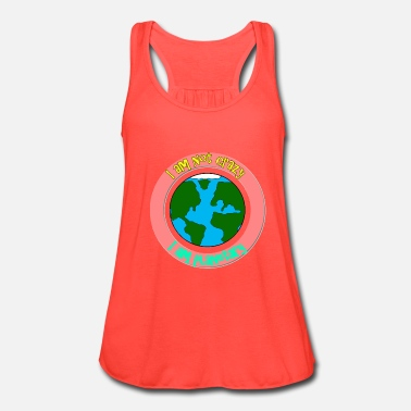 I am not crazy I am planetary - Women's Flowy Tank Top by Bella