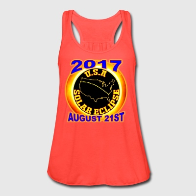 2017 USA Total Solar Eclipse Star Gaze August 21st - Women's Flowy Tank Top by Bella