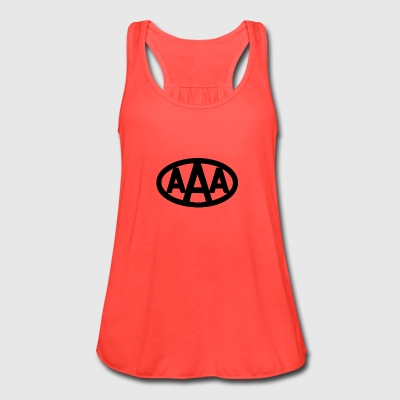 AAA wdd logo - Women's Flowy Tank Top by Bella