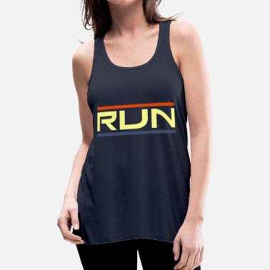 Quotes Run - Women's Flowy Tank Top