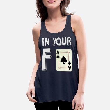 In your face white - Women's Flowy Tank Top