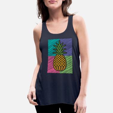 Pineapple Shirt Aloha Beaches Vacation Funny Gift - Women's Flowy Tank Top