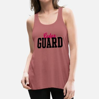 Color Color Guard Bold and Basic Team Design - Women's Flowy Tank Top by Bella