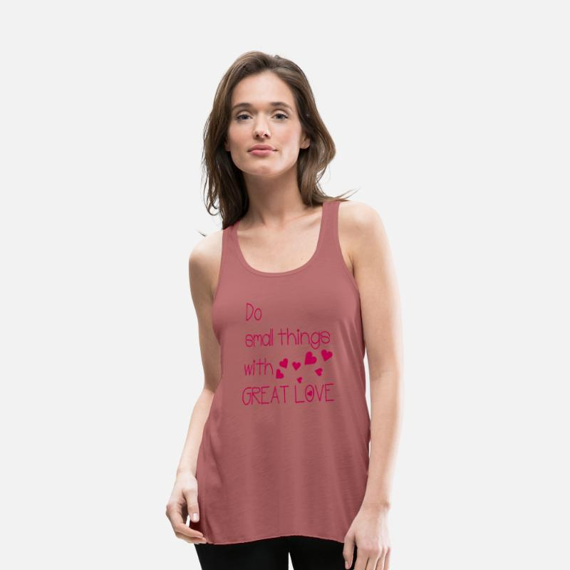 Awesome Tank Tops - do small things with great love - Women's Flowy Tank Top mauve