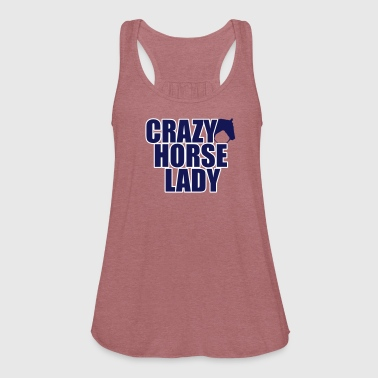 Crazy Horse Lady - Women's Flowy Tank Top by Bella