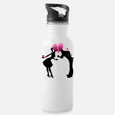 Love Valentine Couple LOVE - Water Bottle