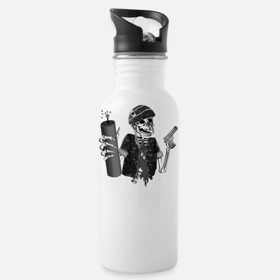 Eod Mugs & Drinkware - Eod No Fear - Water Bottle white
