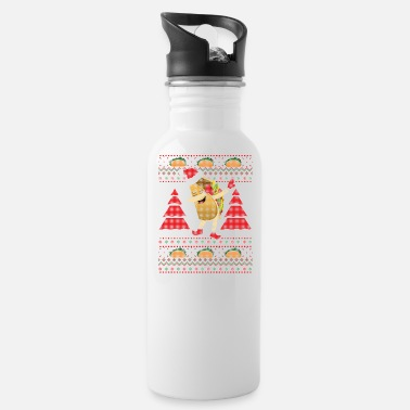 Ugly Dabbing Taco Ugly Christmas Sweater Taco Truck T-S - Water Bottle