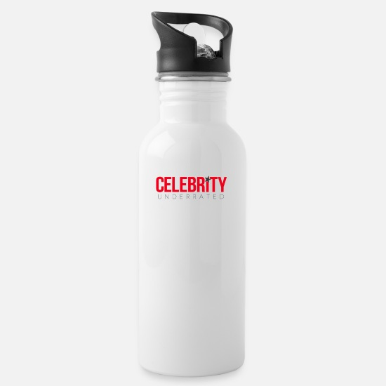 Celebrity Mugs & Drinkware - Celebrity Underrated - Water Bottle white