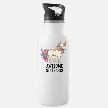 Awesome Since 1999 Unicorn Birthday Gift - Water Bottle