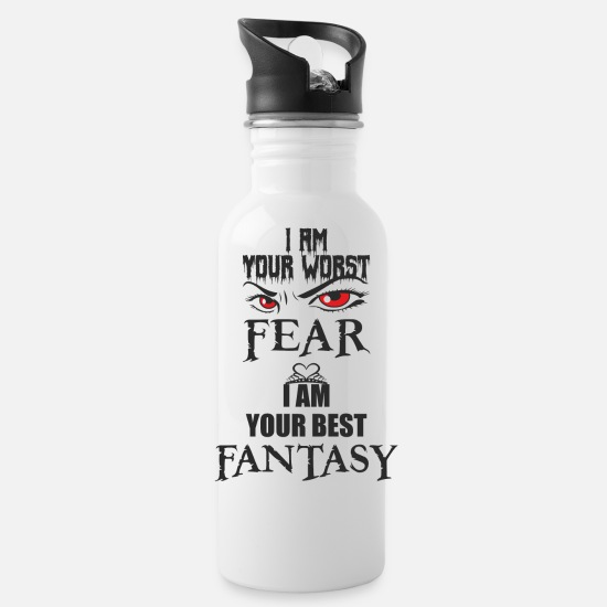 Love Mugs & Drinkware - Fear and joy, love and hate close together - Water Bottle white