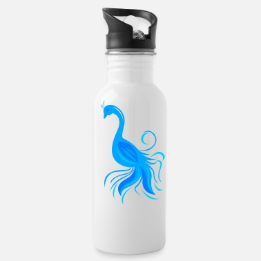 Stylized stylized peacock - Water Bottle