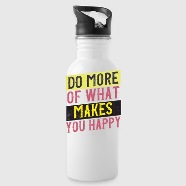 happy vintage style quote - Water Bottle