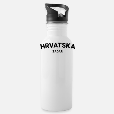 Hrvatica From Croatia With Love - Hrvatska Zadar black - Water Bottle