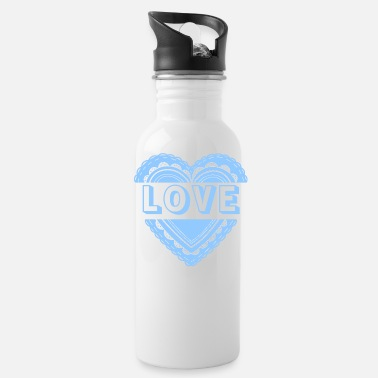 Lovely Love (Blue Ver.) - Water Bottle
