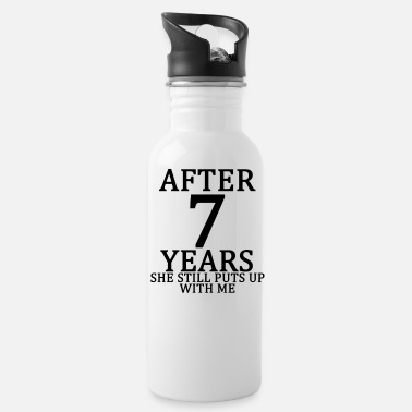 seventh_7th_anniversary_married_funny_ts - Water Bottle