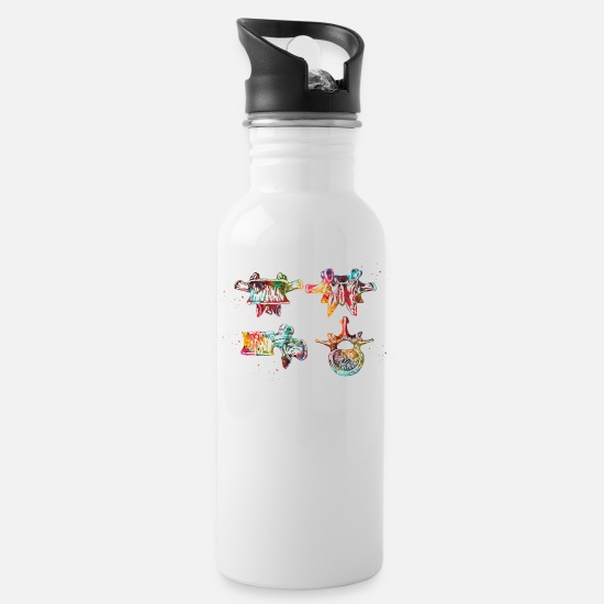 Student Mugs & Drinkware - Lumbar spine structure - Water Bottle white