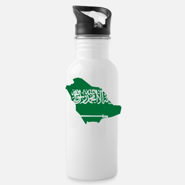 Saudi Arabia Flag map of Saudi Arabia - Water Bottle