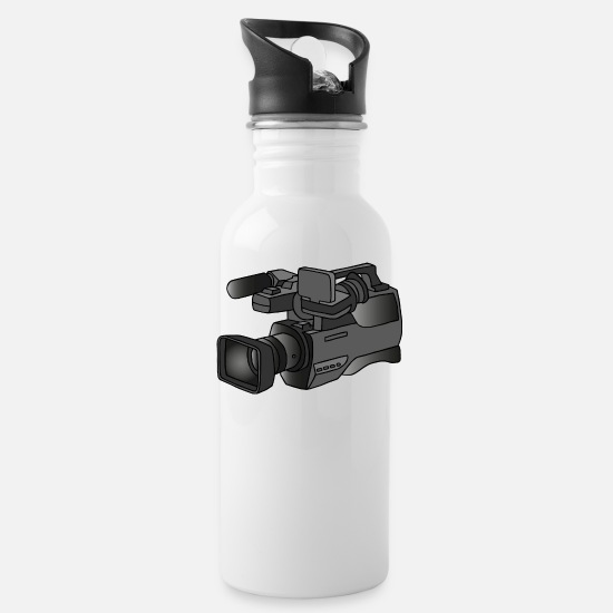 Record Mugs & Drinkware - Video camera, camcorder - Water Bottle white